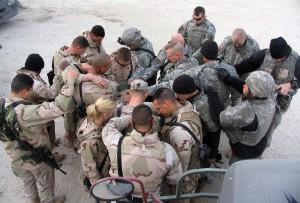 Soldiers Praying Mormon