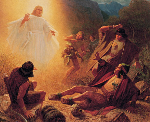 Alma Ammon And The Other Sons Of Mosiah Being Called To Repentance By An Angel