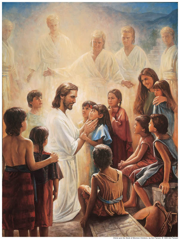 Jesus with children Book of Mormon
