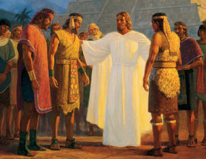 Christ visits Book of Mormon peoples